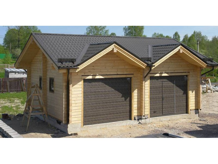Garage double en bois for Construction garage double