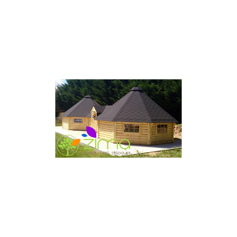 chalet kota grill double 2 portes en bois massif. Black Bedroom Furniture Sets. Home Design Ideas