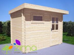 Abri de jardin toit plat 6m²