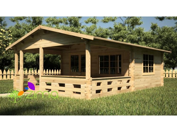 chalet en bois massif en kit lyon 5m x 4m 3m. Black Bedroom Furniture Sets. Home Design Ideas
