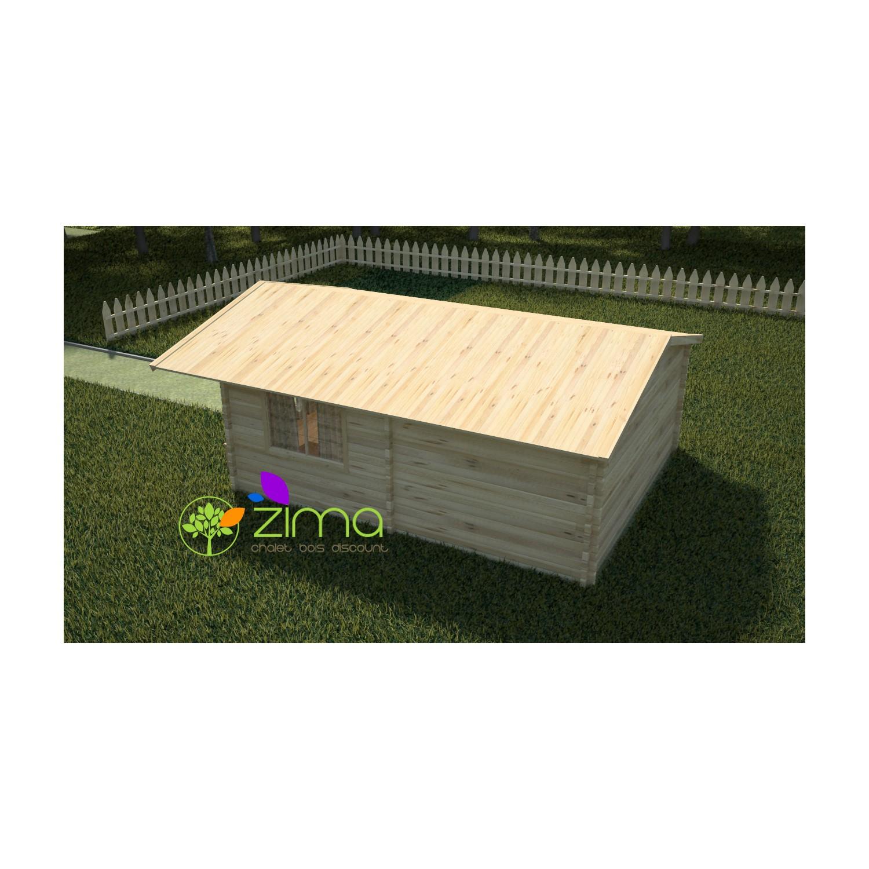 chalet en bois massif en kit li ge 5m x 6m. Black Bedroom Furniture Sets. Home Design Ideas