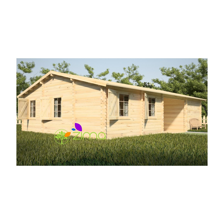 chalet en bois massif en kit helsinki 10 2m x 7m. Black Bedroom Furniture Sets. Home Design Ideas