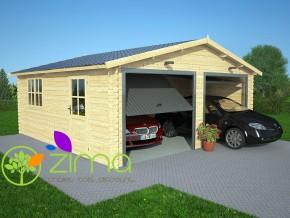 Garage bois double 36m²