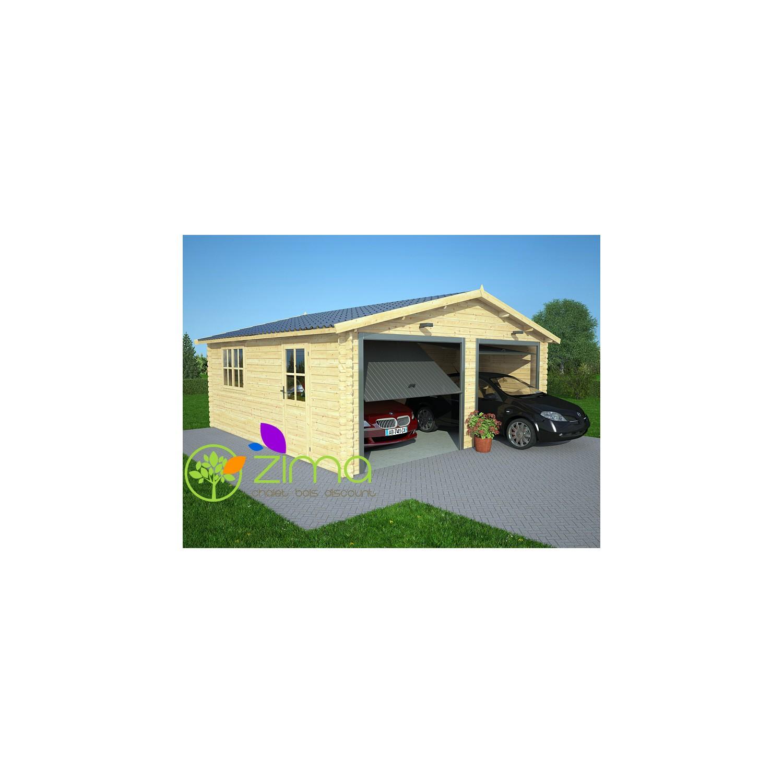Double garage bois - Garage prefabrique alsace ...
