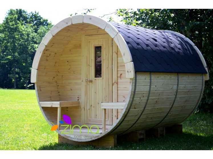 Sauna tonneau 2,4m 2,2m