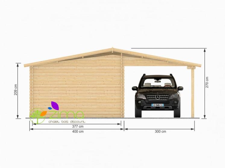 Garage 4x6 + Carport 40m²