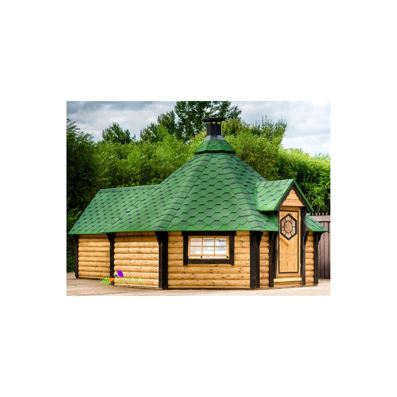 chalet kota grill avec extension en bois. Black Bedroom Furniture Sets. Home Design Ideas