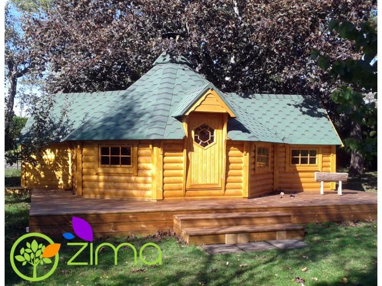 chalet kota grill 2 extensions de bois. Black Bedroom Furniture Sets. Home Design Ideas