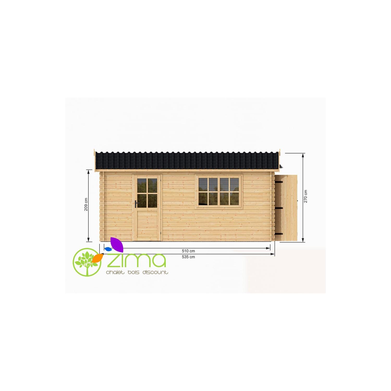 Construire un garage en bois sans permis - Garage en bois 20m2 ...