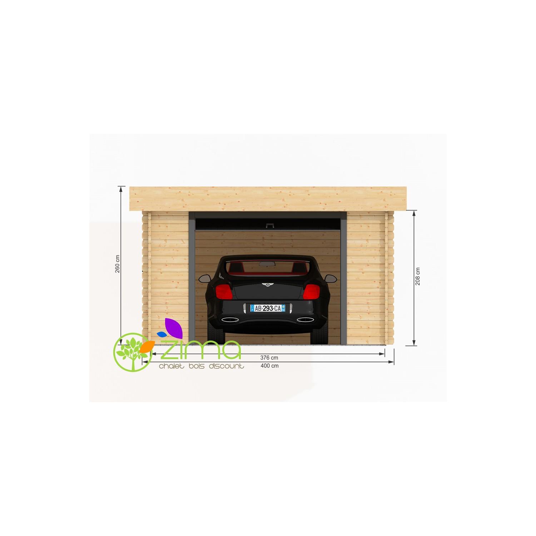 Garage en bois massif de 24m2 600x600 44mm for Location de box garage
