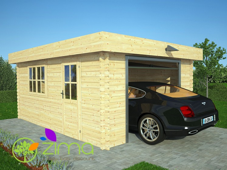 garage en bois massif de 24m2 600x600 44mm. Black Bedroom Furniture Sets. Home Design Ideas