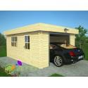 Garage bois Moderne 24m²