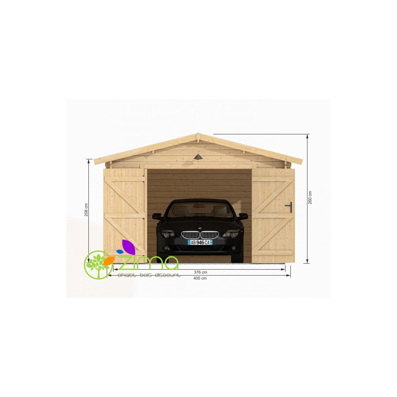garage bois 24 m zima. Black Bedroom Furniture Sets. Home Design Ideas