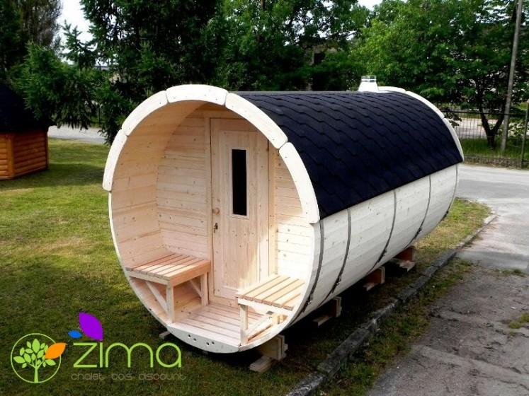 Sauna tonneau 4m