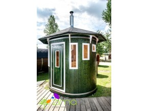 Sauna tonneau vertical