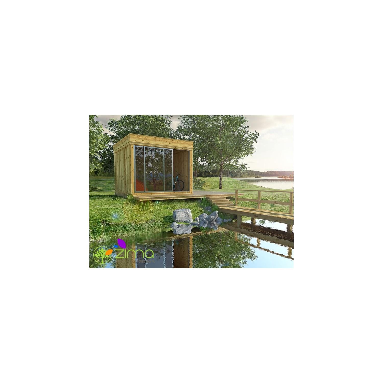 Abri de jardin en fer plancher bois terrasse jardin - Abris de jardin en fer ...