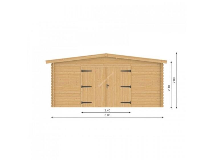 Porte en bois à double battants